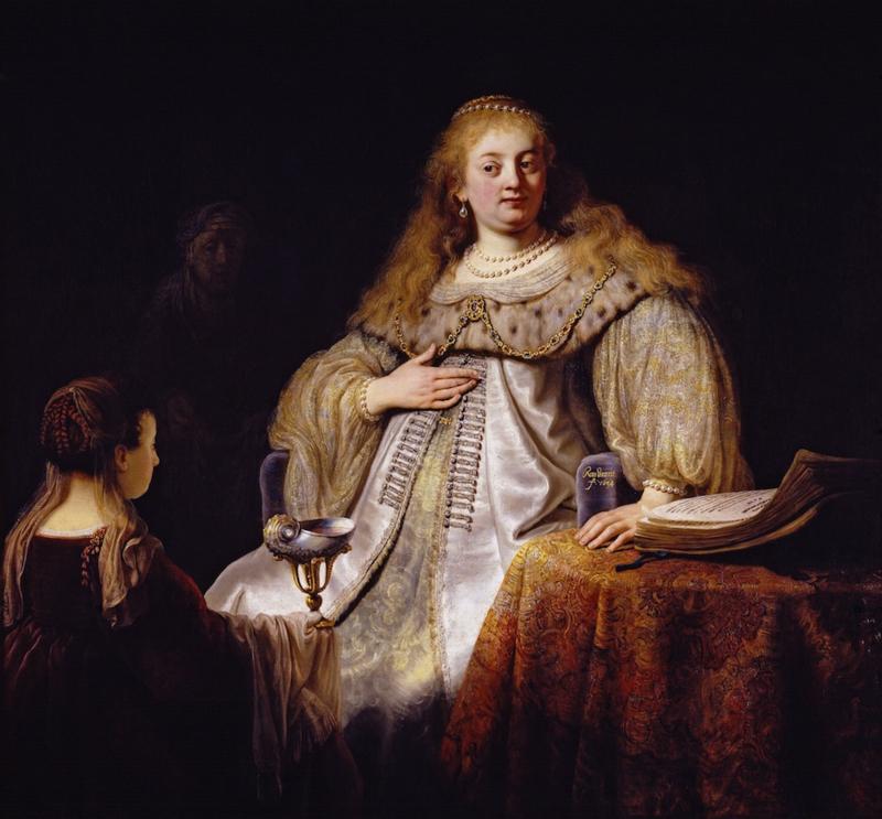 Schilderijbehang - Rembrandt - Sophonisba