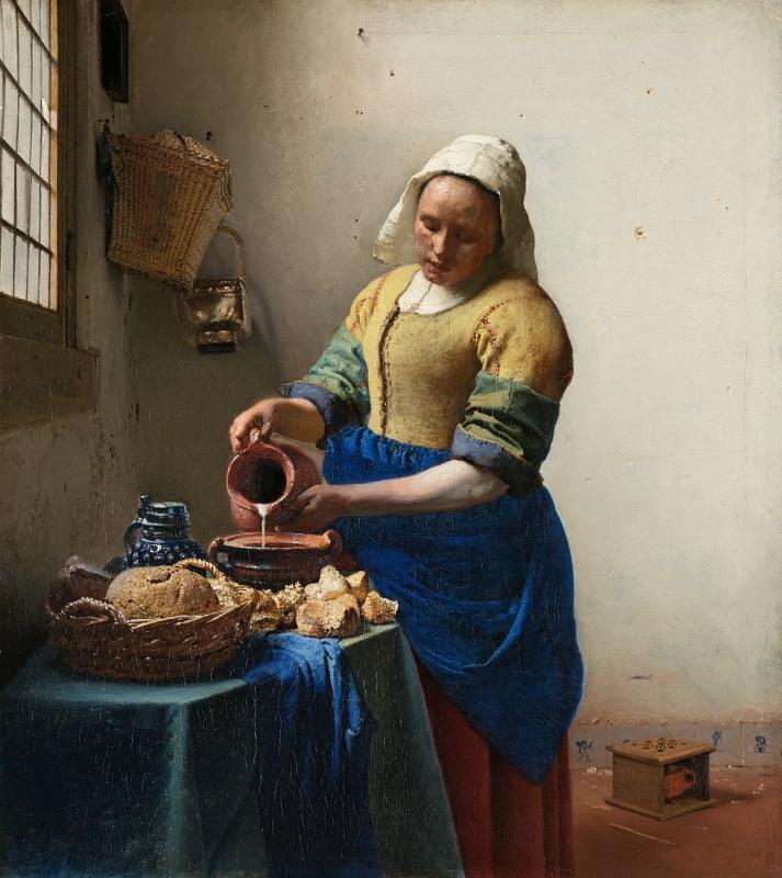 Schilderijbehang -Vermeer - Het Melkmeisje