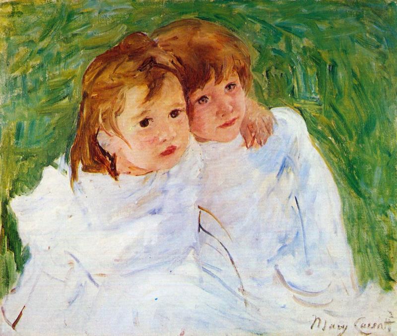 Schilderijbehang - Cassatt - The sisters