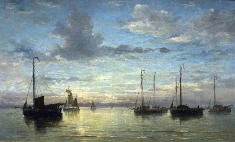 Schilderijbehang  H.W. Mesdag - Avond op zee