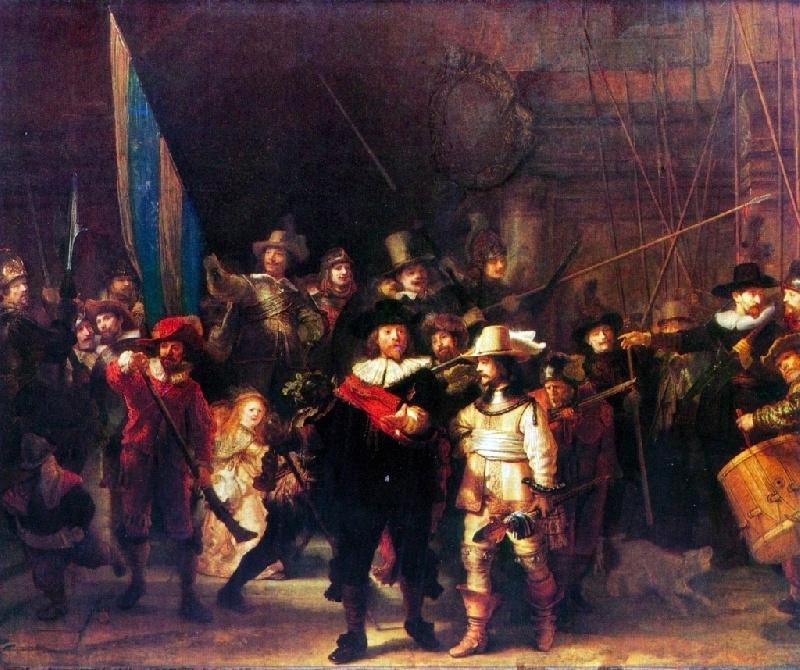Schilderijbehang - Rembrandt - De Nachtwacht