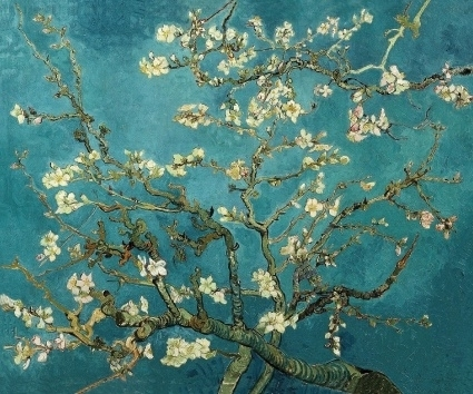 Schilderijbehang - Van Gogh - Blossoming Almond Tree