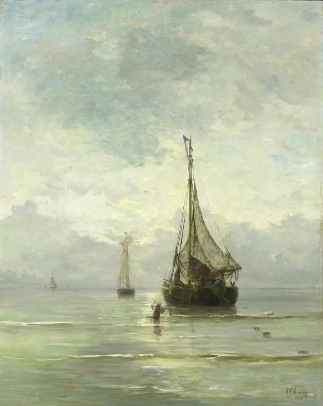 Schilderijbehang  H.W. Mesdag - Kalme zee
