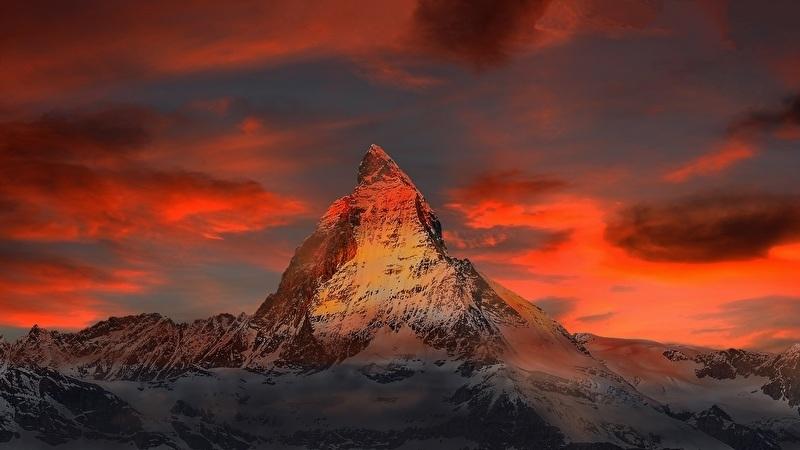 Fotobehang - Bergen - Zwitserland
