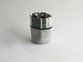Mand zeil klein/ zwart-grijs(mk11)