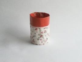 Mand zeil klein/ rood roos (mk4)