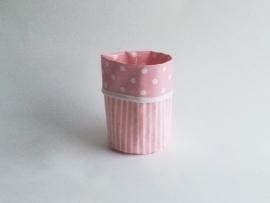 Mand zeil klein/ roze stip (mk5)
