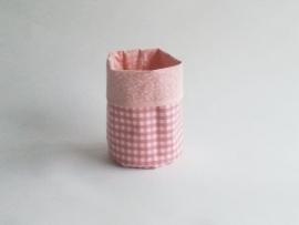 Mand zeil klein/ ruit roze (mk6)
