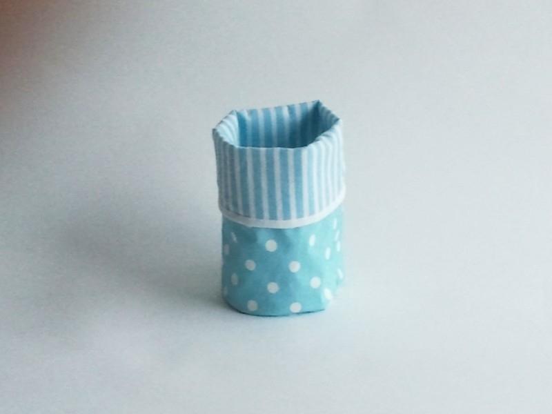 Mand zeil klein/ blauw stip(mk14)