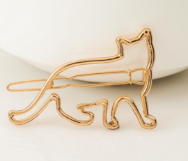 """Haarclip """"Cat"""" goud"""