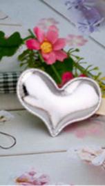 Zilveren hartjes, haarklemmetjes