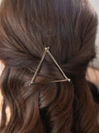 """Haarclip """"Triangle""""goud"""