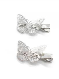 Vlinderklemmetjes, zilver