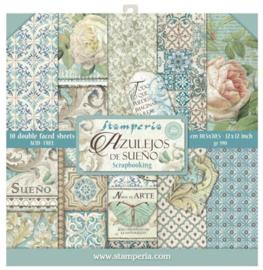 Stamperia paper pad Azulejos 30,5x30,5cm art. SBBL55