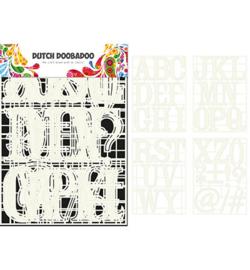 Dutch doo ba doo  Stencilart letters A tot en met Z 4 stencils art.470715820