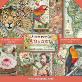 Stamperia paper pad SBBL83  Amazonia 30,5x30,5  verwacht eind februari pre order kan