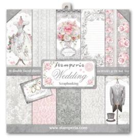 Stamperia paper pad Wedding 30,5x30,5cm art. SBBL18