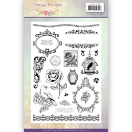 Janine's art clearstamp JACS 10013 Vintage flowers