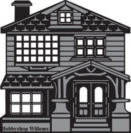 craftable Victorian CR 1218  house 15x19 cm