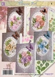 Creatief art flower art 1  tijdelijk uitverkocht