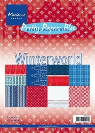 Nieuw Paperblock Winter World  voorraad 10x