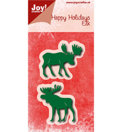 Joy Crafts 6002-0778 Happy Holidays Elk (rendier)