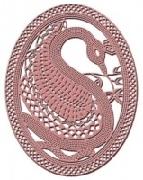 CLD snij en embossingsmal    jal. art. CLD 120 Emperor Swan.