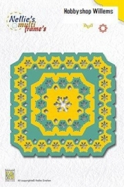 Multi Frame Die  art. MFD 0034 Square Snowflakes. Bestellen enAfhalen korting 10%