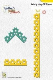 Multi Frame Die  art. MFD 0036 Combi Snowflakes. Bestellen en Afhalen korting 10%
