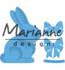 Marianne Design Easter bunny with bow LR0519