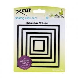 X CUT Nesting die f-it  art. 503007  square  voorraad 2x   Afhalen in onze winkel  € 10,95