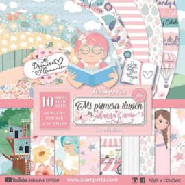Stamperia paper pad primera Illusion Nima 30,5x30,5cm art. SBBL69