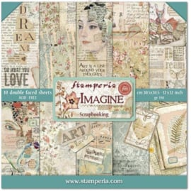 Stamperia paperpad Imagine 30,5x30,5 cm art. SBBL65