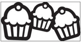 EK succes Large Chain  punch   Cupcake Chain all. art.54-50023 voorraad 2x