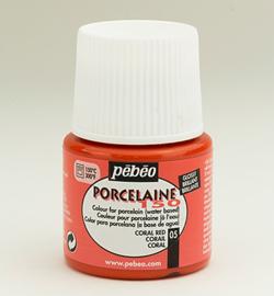 Pebeo porcelaine verf  kleur 05  Coral red