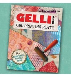 Gelli P{rinting plate 20,32x25,24cm  op voorraad vanaf 5 april
