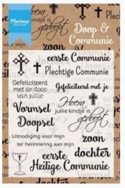 Marianne design Clear stamp CS1005 Doop en Communie