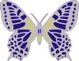 CLD snij en embossingsmal    jal. art. CLD 115  exotic  medium   butterfly    voorraad 2x