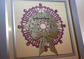CLD snij en embossingsmal    jal. art. CLD 143  ornamentel Wreath&Bow