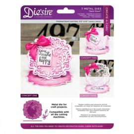 Diesire Create-a- Card  Swirl Easel art. DS-CAD-Swire