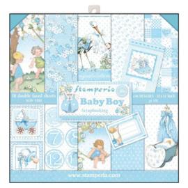 Stamperia paper pad Baby boy 30,5x30,5cm SBBL40