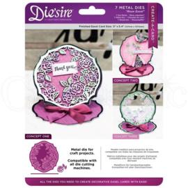Diesire Create-a- Card  classique  Rose Easel art. DS-CAD-ROSEE