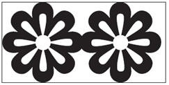 EK succes Large Chain  punch Floral  Chain all. art.54-50017 voorraad 2x