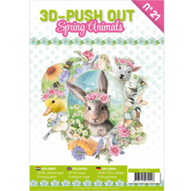 3-D Push out no 21 art. 3DPO10021 Spring Animals