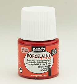 Pebeo porcelaine verf  kleur 06     Scarlet