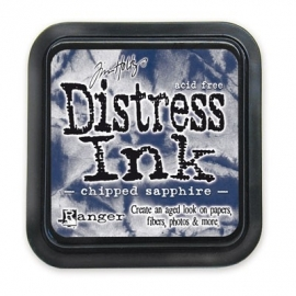 Distress Inkt Tim Holtz - Ranger   Art.  Krs. 0627    Brushed Shipped Saphire