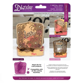 Diesire Create-a- Card  classique  Rose Easel art. DS-CAD-HENE