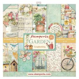 Stamperia paper pad Garden 30,5x30,5cm SBBL43