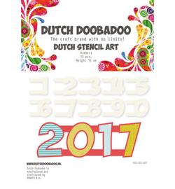 Dutch doo ba doo  Stencilart nummers 0 tot en met 9    art.470990100