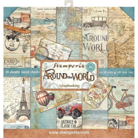 Stamperia paper pad around the world 30,5x30,5cm art SBBL28